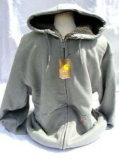 Carhartt Men's Sherpa Lined Brushed-Fleece Sweatshirt - Slate Heather - XL