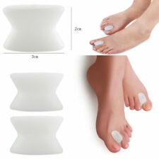 NEW Silicone Gel Relief Foot Bunion Pain Toe Separator Spacer Straightener 2PC
