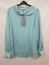 Principles Ladies blouse long sleeve blue size 16 new with tags 02