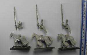 3 SILVER HELMS Metal High Elf Elves Aelf Aelves Army Knights Warhammer 1990s 3