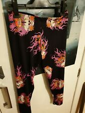 Insanity Leggings, Roses, Skulls and flame, Made in England