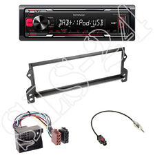 Kenwood kmm-dab403 + mini r50 r52 r53 1-din Panneau Noir + ISO Adaptateur Set
