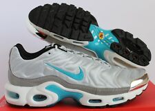 WMNS NIKE AIR MAX PLUS QS PURE PLATINUM-MARINA BLUE SZ 10 [887092-002]