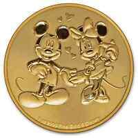 2020 Niue 1 oz Gold $250 Disney Mickey & Minnie Mouse BU - SKU#204281