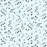 Music Notes Soft Aqua Blue Elizabeth's Studio 100% Cotton Fabric by the yard