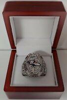 Joe Flacco - 2012 Baltimore Ravens Super Bowl Custom Ring WITH Wooden Box