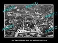 OLD LARGE HISTORIC PHOTO OF BATH SOMERSET ENGLAND, VIEW OF THE TOWN c1950 4