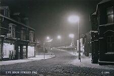 Lye High Street, Lye (1962) Snow Scene - Stourbridge, Worcestershire, England