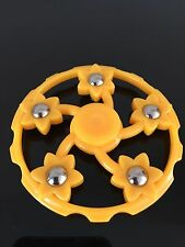 yellow wheel metal beads finger hand spinner fidget spinning toy steel bearing