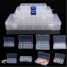 5/15/24/28 Slots Adjustable Jewelry Storage Box Case Beads Organizer Boxes