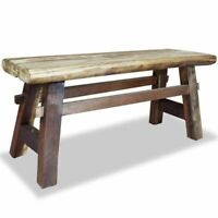 """US Antique Bench 39.4"""" Solid Reclaimed Wood Rustic Seat Entryway Hallway Seating"""