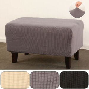 Padded Footstool Covers Footrest Stretch Slipcover Chair Dustproof Protector