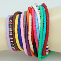 400pcs/Strand Flat Disc Polymer Clay Loose Spacer Beads for DIY Jewelry Making#G