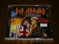 DEF LEPPARD SEATLE 1983 LIVE CD FIRST EDITION ANOTHER HIT AND RUN ROCK BAND