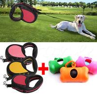 Pet Cat Dog Retractable Leash Nylon Automatic Extendable Leash +Pet Garbage Bags