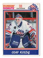 1992-93 Dunkin Donuts Hockey Card Rochester Americans AHL Olaf Kolzig