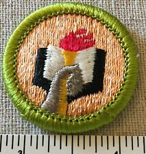 Boy Scouts SCHOLARSHIP MERIT BADGE Patch Nice BSA Scout PLASTIC BACK INSIGNIA