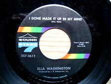 "Ella Washington - I Done Made It Up In My Mind - Northern Soul MEGA RARE 7"""