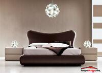Set Luci camera da letto Lampadario Sospensione Sfera Bianco 50 cm e 2 abatjour