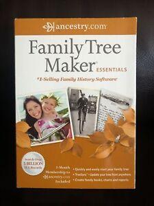 Ancestry.com Family Tree Maker Essentials 2012 Software Windows Genealogy