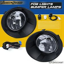 For 2010-2013 Chevy Camaro Bumper Fog Lights Driving Lamps + Bulbs Complete Kit