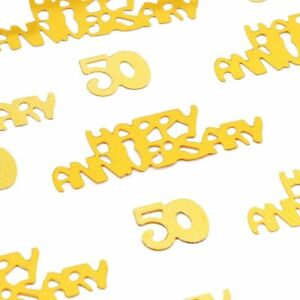 Sparkle and Bash Gold 50th Anniversary Confetti, Table Party Decorations