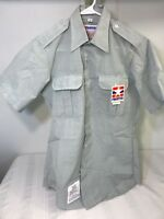 Propper Army Green Mens Sz 15 Military Shirt Tapered Body Short Sleeve Poly/Wool