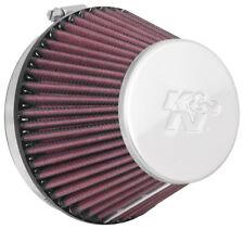 RC-9890 K&N Universal Chrome Air Filter 110MM FLG ID, 140MM B OD, 89MM T OD, 104