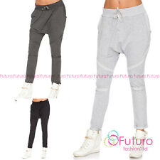Womens Sport Baggy Harem Pants Crotch Collapse Bottoms Hip Hop Trousers FT3007