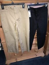 2 New Women's Rafaella Black & Camel Tan Capri Cropped Pants 4 Petite 4P