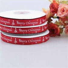 25yards/Roll Satin Ribbon Gift Wrapping Merry Christmas Happy New Year Craft DIY