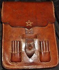 Original WW2 Japanese IJA Officers Leather Combat Map Case Uniform Field Gear