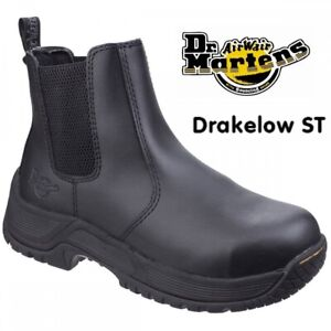 Dr Martens Drakelow Mens Safety Boot Chelsea Dealer Steel Toe  Ankle Work Boot