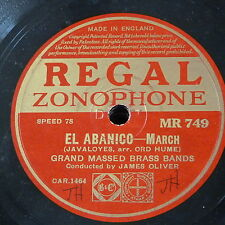 78rpm JAMES OLIVER MASSED BANDS el abanico / under the banner of victory