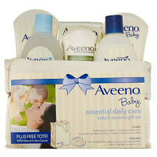 Aveeno Baby Essential Daily Care Baby & Mommy Gift Set Lotion Cream Shampoo Wash