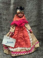 Vintage French Savoyarde Hand Made Doll By Jasinette Creations With Original Tag