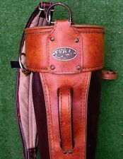 Vintage Westchester Brown Leather Golf Bag Made USA Good Condition
