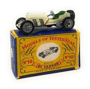 Matchbox Y10 Mercedes Grand Prix 1908 Issue 9 Models of Yesteryear MoY box C