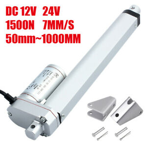 1500N Electric Linear Actuator Motor Lift Stroke 50mm 600mm 1000mm 12V 24V 7mm/s