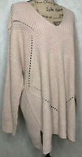 Charlotte Russe Sweater Size 3x Side Slits Criss Cross Back Mauve New Top Boho