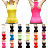 Women's Sports  Racer Back sleeveless tank top Gym Yoga Sleeveless Fashion Tee