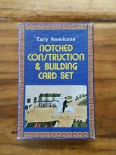 Vintage Early Americana Notched Construction & Building 54 Card Set Complete