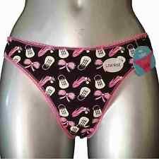 New Black Pink Thong UK 14 Shoe Handbag Purse Logo Teenagers Young Ladies Pants