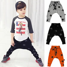 Toddler Kids Baby Boys Girls Harem Pants Trousers Bottoms Sweatpants Slacks 2-7Y