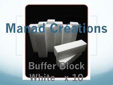 bloc blanc ongles lot de 10 white block nail file polissoir buffer manucure kit