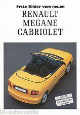 Renault Mégane Cabriolet Prospekt 1 97 brochure 1997 Auto PKWs Autoprospekt
