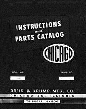 Chicago Dreis & Krump 56-A Press Brake Parts Manual