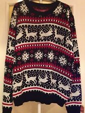 Mens Black Ladies Christmas Xmas Jumper Sweater Knitwear L/XL Large/Extra large