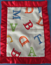 "ALPHABETS Ultra Soft & Comfy & Satin Security Blanket 14"" x 17½"""