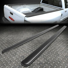 FOR 94-02 DODGE RAM 8FT BED PAIR L+R SATIN BLACK TRUCK RAIL CAPS MOLDING COVER